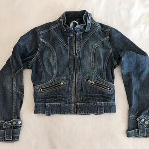 Moto Style Denim Jacket